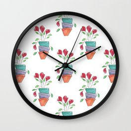 Pot Stack Wall Clock