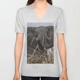 Elephant Along the Okavango River Unisex V-Neck