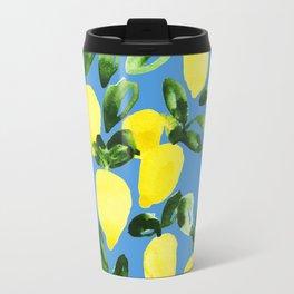 Blue Lemons Travel Mug