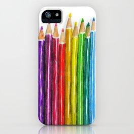 Colored Pencils iPhone Case