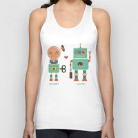 lawyer Tank Tops featuring Robotic Love by akaink