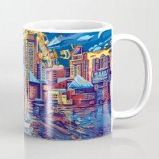 abstract city skyline-baltimore Mug