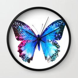 Big Blue Butterfly Wall Clock