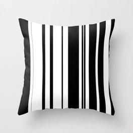 Black and white stripes 1 Throw Pillow