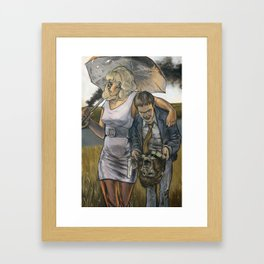 Bonnie & Clyde on the Other Side Framed Art Print