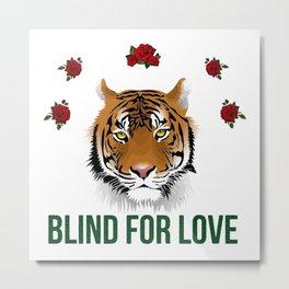 blind for love Metal Print