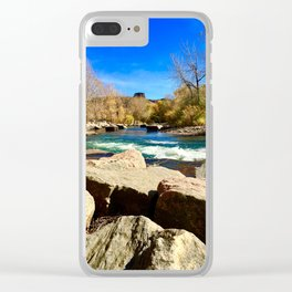 South table mountain over clear creek Clear iPhone Case