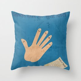 Rules Of Thumb Throw Pillow