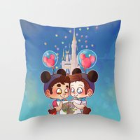 klaine Throw Pillows featuring Sweet Day by Sunshunes