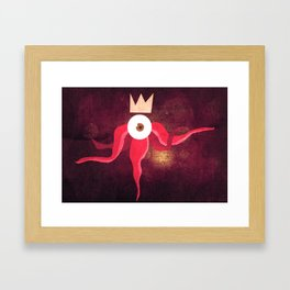 Red King Octopus Framed Art Print