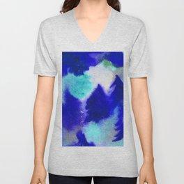 Forest Blanket - Blue Hues Unisex V-Neck
