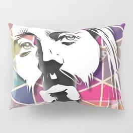 Jesus Likes It Big and Black Pillow Sham