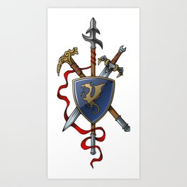 Coat of Arms Art Print