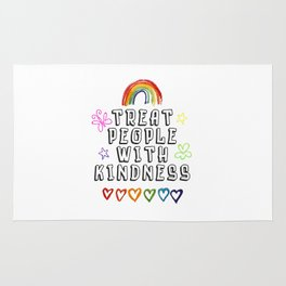 TREAT PEOPLE WITH KINDNESS - PRIDE EDITION Rug