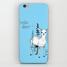 hello deer! iPhone & iPod Skin