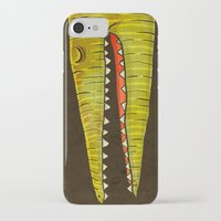 crocodile iPhone & iPod Cases featuring Crocodile by Lime