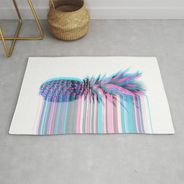 Light Blue and Pink Pineapple Rug