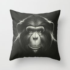 Monkee with Tooth Throw Pillow