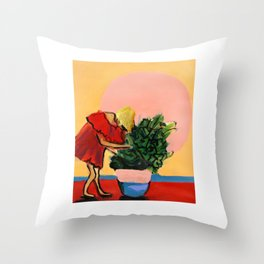 I Have This Thing With Plants Throw Pillow