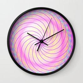 Pink Vortex Wall Clock