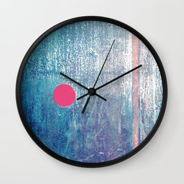 Metallic Face (Blue Version) Wall Clock