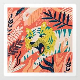 Tiger grrrrr Art Print