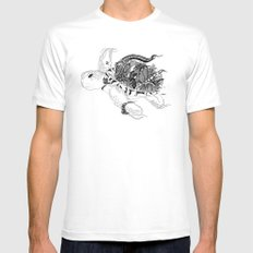 Inking Turtle Mens Fitted Tee MEDIUM White