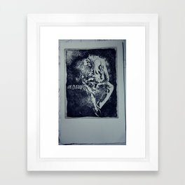 A man without Framed Art Print