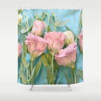 destiny Shower Curtains featuring Destiny by Lisa Argyropoulos