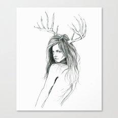 Mon Petit Chevreuil (My Little Deer) Canvas Print