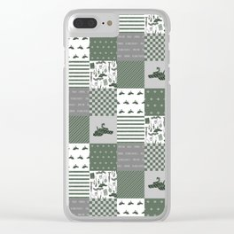Snake House cheater quilt patchwork wizarding witches and wizards Clear iPhone Case