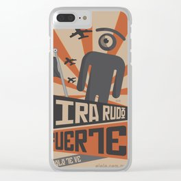 see tough, see strong Clear iPhone Case