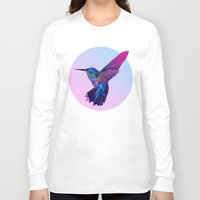 hummingbird Long Sleeve T-shirts featuring Hummingbird by jenkydesign