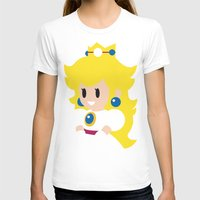 princess peach T-shirts featuring Princess Peach - Minimalist  by Adrian Mentus