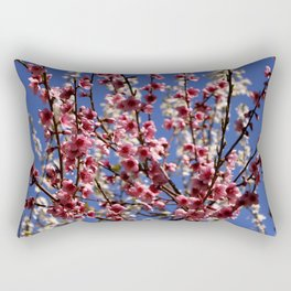 Spring Blossom on a Tree Rectangular Pillow
