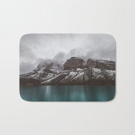 Landscape Maligne Lake Mountain View Photography | Alberta | Canada Bath Mat