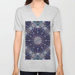 Winter mandala pattern Unisex V-Neck