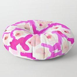 WILD BOOBS Pink Watercolor Floor Pillow