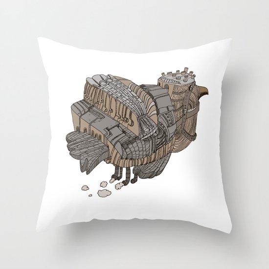 Space Bird Throw Pillow