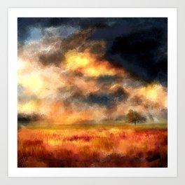 Painted Landscape Art Print