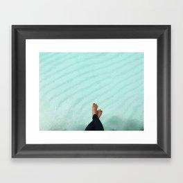 Work.Save.Travel.Repeat Framed Art Print