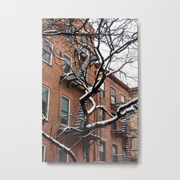 Snowy Street of SoHo, NYC 1 Metal Print