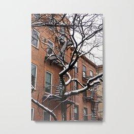 Snowy Street of SoHo, NYC 1 Metal Print
