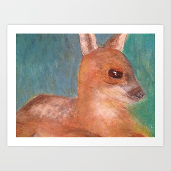 Baby Fawn Art Print