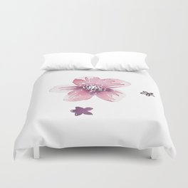Lilac Pink Watercolour Fiordland Flower Duvet Cover