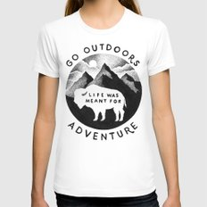 OUTDOORS Womens Fitted Tee LARGE White