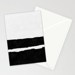 Black White Minimal Abstract Painting Nr.102 Stationery Cards