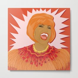 Celia Cruz | Bad Ass Women Series Metal Print