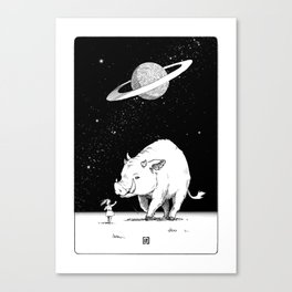 Edge of the universe: Warthog Canvas Print