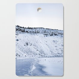Kerid Crater In Winter, Iceland Cutting Board